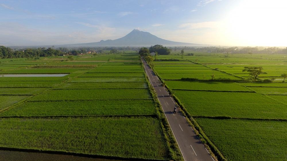 Merapi tűzhányó Indonézia Jáva